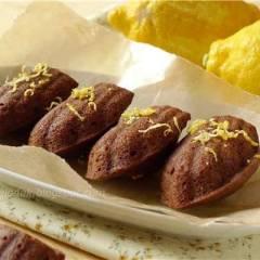 фото рецепта Шоколадно-лимонные мадленки