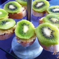 фото рецепта Закусочные канапе с киви