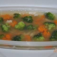 Холодец из куриной грудинки с овощами