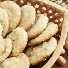Творожно-овсяное печенье с фисташками