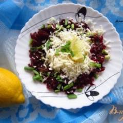 Салат со свеклой и моцареллой