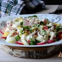 Салат из щавеля и редиса