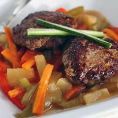 фото рецепта Котлеты из индейки с кисло-сладким соусом
