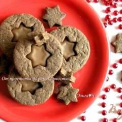 Шоколадное печенье с шоколадным кремом