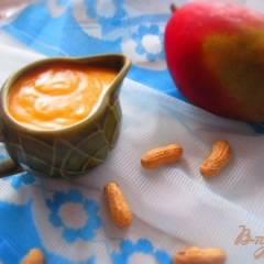 фото рецепта Манговый заварной крем