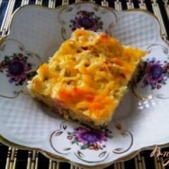 Пирог из пекинской капусты с ветчиной и сыром