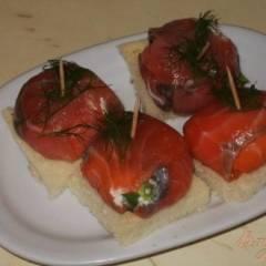 Закуска из лосося и сливочного сыра