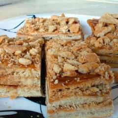 фото рецепта Пирожное с варёной сгущёнкой