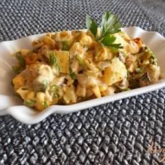 Салат с курицей и ананасами оригинальный