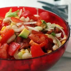 фото рецепта Салат с авокадо по-техасски