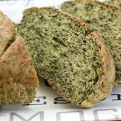 фото рецепта Зеленый хлеб со шпинатом