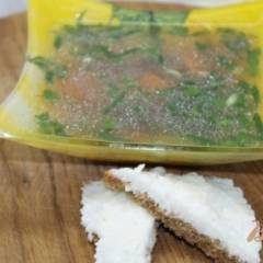 Бульон с рыбы с зеленью и овощами