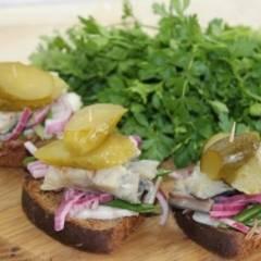 фото рецепта Закусочные бутерброды под водочку