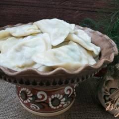 фото рецепта Вареники с картофелем, грибами и черемшой