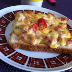 Горячие бутерброды с помидорами