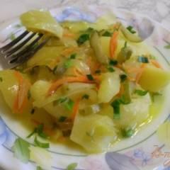 Гарнир картофельный с консервированным огурцом