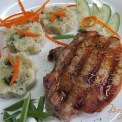 фото рецепта Свиной стейк на сковороде-гриль