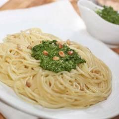 фото рецепта Спагетти с песто из шпината