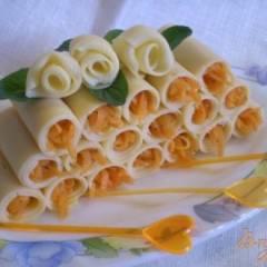 Сырная закуска с морковью