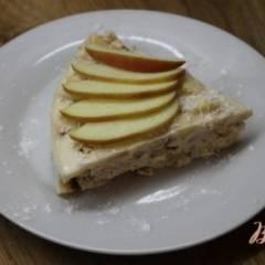 Йогуртовый торт с печеньем и фруктами