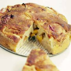фото рецепта Яблочно-сливовый пирог