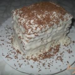 Мини-торт из печенья с бананом на скорую руку