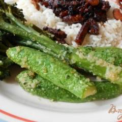 фото рецепта Гарнир из брокколини и цуккини с панировочными сухарями