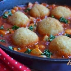 Рисовые шарики в томатном соусе