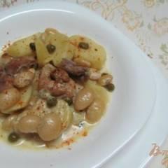 Свинина с каперсами картофелем и фасолью