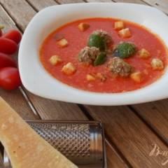 Томатный суп-пюре по- средиземноморски