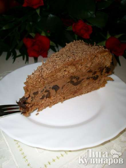 """Шоколадный бисквитный торт """"Пьяная слива"""""""