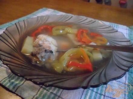 Рыбный суп со сладким перцем