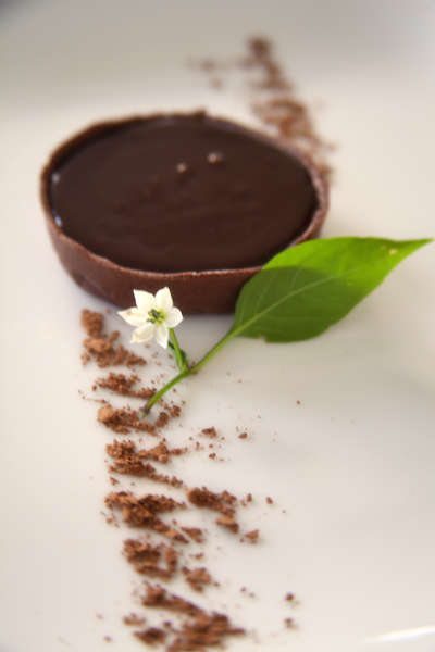 Шоколадные тарталетки с шоколадно-кофейным кремом