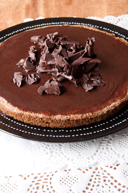 Шоколадный маковый пирог