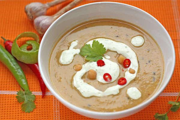 Пряный суп-пюре из нута