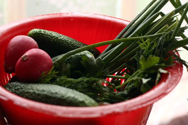 Овощи тщательно вымойте и дайте стечь воде.