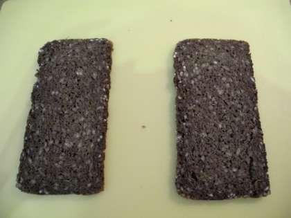 Взять 2 ломтика хлеба
