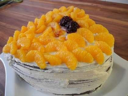 Готовый торт поставить в холодильник на 3 часа пропитываться