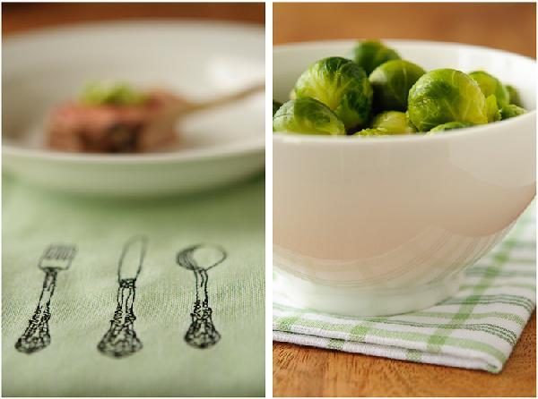 отваренная брюссельская капуста – отличный гарнир к этому мясу.